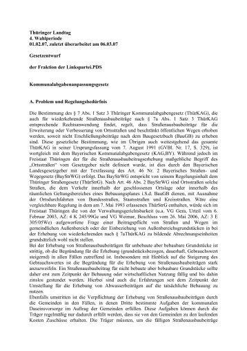 Entwurf für Kommunalabgabenanpassungsgesetz - Frank Kuschel ...