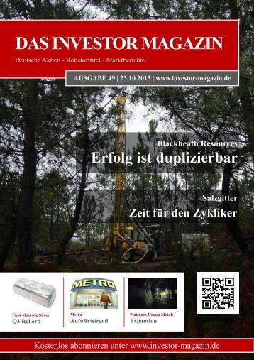 Das Investor Magazin - Ausgabe 49