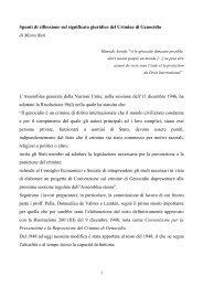Sulla definizione giuridica del crimine di genocidio - Gariwo