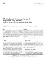 Medulla Spinalis Yaralanmal› Hastalarda Geç Dönem ... - FTR Dergisi