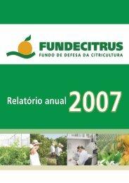Relatório Anual 2007.pdf - Fundecitrus