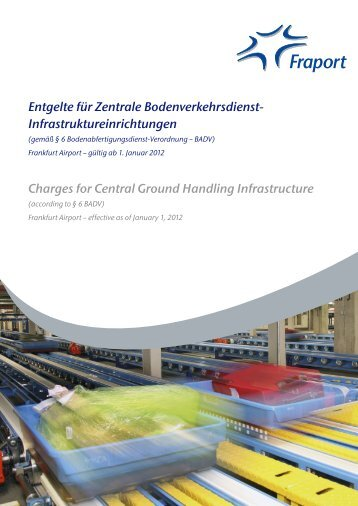 Ground Handling Charges : Flughafenentgelte airport charges fraport ag