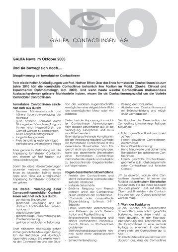 10_Oktober 2005.pdf - Galifa Contactlinsen AG