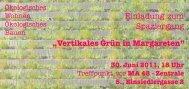 """""""Vertikales Grün in Margareten"""" Einladung zum Spaziergang - GB ..."""