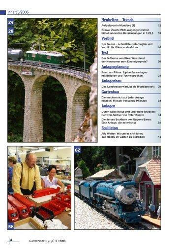 Inhalt 6/2006 Neuheiten – Trends Vorbild Test ... - Gartenbahn Profi