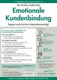 Seminar: Emotionale Kundenbindung - Management Circle AG - forum ...