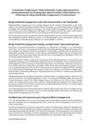Gemeinsame Erklärung zur Förderung des bürgerschaftlichen ...