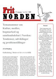 Nordic culture and media, December 2009 - Frit Norden