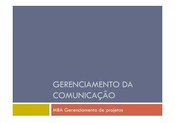 GERENCIAMENTO DA COMUNICAÇÃO - Fortium