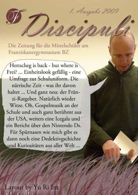 Ausgabe 09/01 - Franziskanergymnasium Bozen