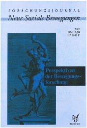 Vollversion (5.62 MB) - Forschungsjournal Soziale Bewegungen