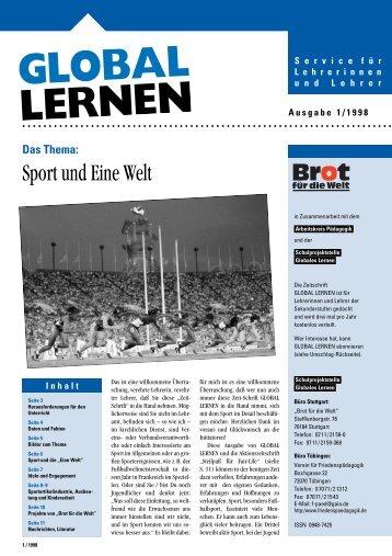 Sport und Eine Welt - Institut für Friedenspädagogik Tübingen