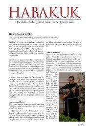 Habakuk Ausgabe 1/2012 - Franziskanergymnasium Bozen