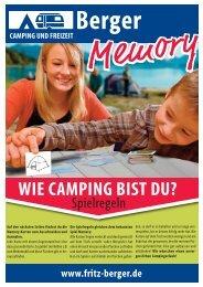 WIE CAMPING BIST DU? - Fritz Berger