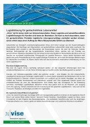 Logistiklösung für gentechnikfreie Lebensmittel