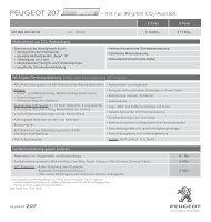 PEUGEOT 207 98g - Preisliste
