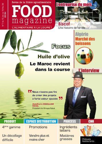 Huile d'olive - FOOD MAGAZINE