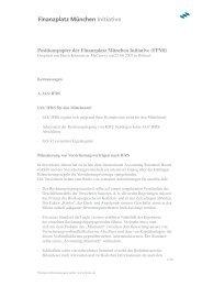 Positionspapier der Finanzplatz München Initiative (FPMI)