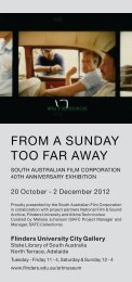Public Programs Flyer - Flinders University
