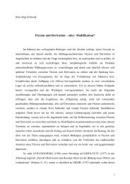 Flexion und Derivation – oder: Modifikation? - folia germanica