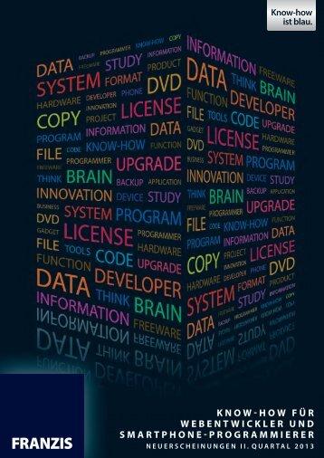 geht´s zum Franzis Katalog Webentwickler, Smartphone ...