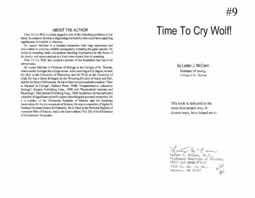 9 Time To Cry Wolf Gardner Files