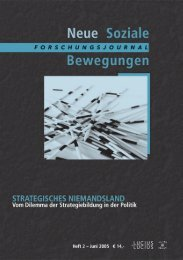 ?Initiative Berliner Sozialforum?. - Forschungsjournal Soziale ...