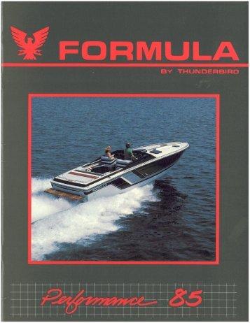 1985 Formula Performance Brochure.pdf - Formula Boats