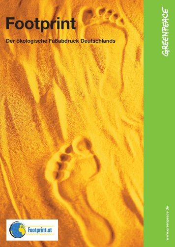 Footprint - Der ökologische Fußabdruck Deutschlands - Greenpeace