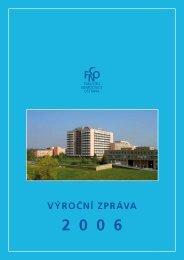 Výroční zpráva 2006 - Fakultní nemocnice Ostrava