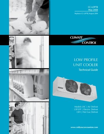 Climate Control Walk-In Unit Coolers - Fox Appliance Parts of ...
