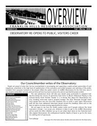 Our Councilmember writes of the Observatory: FRANKLIN HILLS ...
