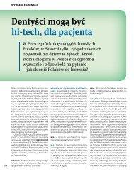Dentyści mogą być Hi-tech, dla pacjenta.pdf - FM Dental Produkty ...