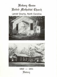 Hickory Grove United Methodist Church History, 1860-1991