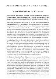 pressemitteilung 0 1 . 0 3 . 2 0 0 9 - Galerie Dorothea van der Koelen