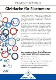 Gleitlacke für Elastomere - FUCHS LUBRITECH GmbH
