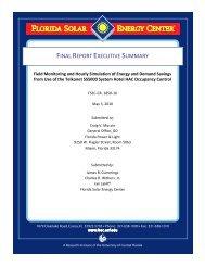 FINAL REPORT EXECUTIVE SUMMARY - Florida Solar Energy ...