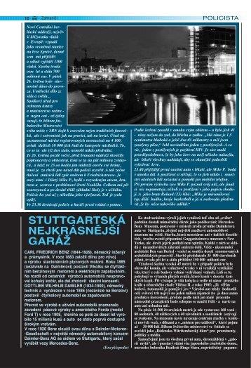 STUTTGARTSKÁ NEJKRÁSNĚJŠÍ GARÁŽ - Ministerstvo vnitra
