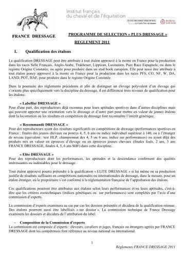 reglement complet 2011 - France Dressage