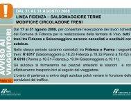 linea fidenza – salsomaggiore terme modifiche ... - Trenitalia
