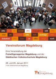 Vereinsforum Magdeburg - Freiwilligenagentur Magdeburg