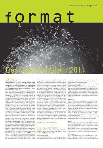 Das Jubiläumsjahr: Oktober 2011 - Infostelle Frau und Arbeit