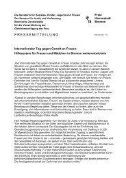 Internationaler Tag gegen Gewalt an Frauen - Bremen