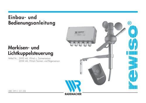 und Bedienungsanleitung Markisen - Betting und Buss Gbr