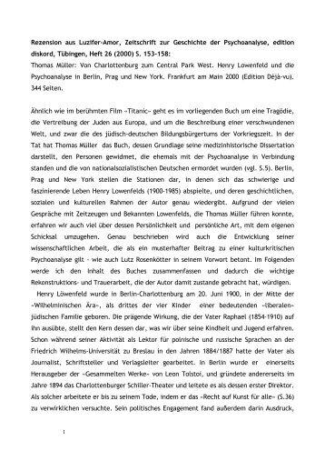 Rezension aus Luzifer-Amor, Zeitschrift zur Geschichte der ...