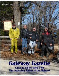 December - Gateway Riders Index