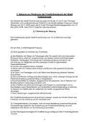 1. Satzung zur Änderung der Friedhofssatzung der Stadt Friedrichroda