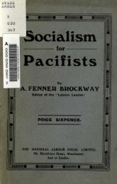 Socialism Pacifists