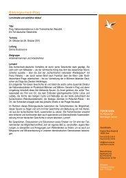 Programm Prag 2010 Oktober - Forum Unna