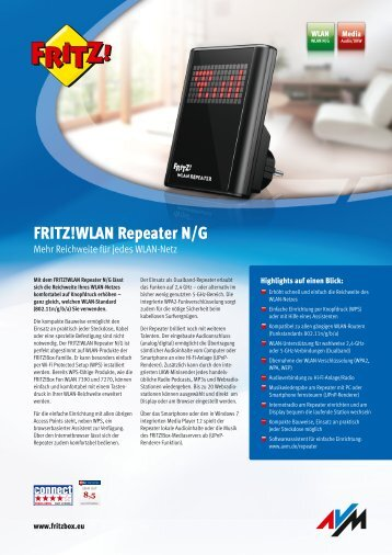 WLAN Repeater N/G - Fritz!